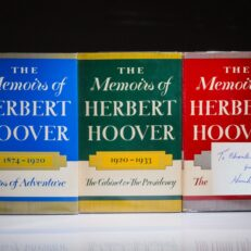 The Memoirs of Herbert Hoover, signed edition. Fine dust jackets.