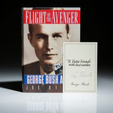 Flight of the Avenger, signed by George Bush.