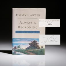 Always a Reckoning by Jimmy Carter. Signed first edition, first printing, fine copy.
