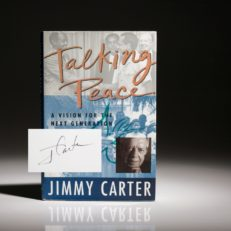 Talking Peace, signed first edition, first printing by President Jimmy Carter.