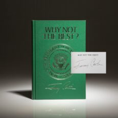 Signed limited edition of Why Not The Best? by President Jimmy Carter.