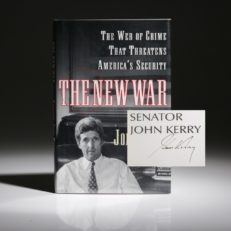 The New War by John Kerry, signed first edition, first printing.