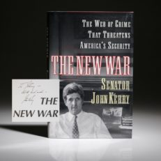 The New War by Senator John Kerry, signed first edition.