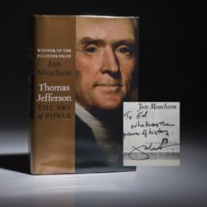 Thomas Jefferson The Art of Power by Jon Meacham, signed first edition, first printing.