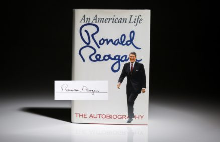 President Reagan An American Life, signed first edition.