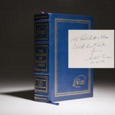 The Memoirs of Richard NIxon, signed limited edition. Additonal inscription by Preisdent Nixon.