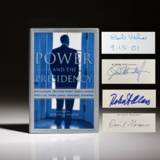 The Power and the Presidency, first edition, signed by Robert Wilson, Robert McCullough, Robert Caro.