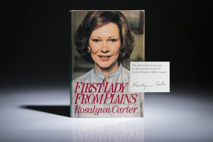 First Lady from Plains, limited edition, signed by Rosalynn Carter.