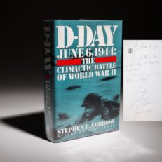 D-Day Stephen Ambrose, signed first edition, first printing.