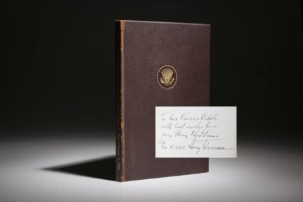 A New Era in World Affairs by Harry S. Truman. An inscribed limited edition.