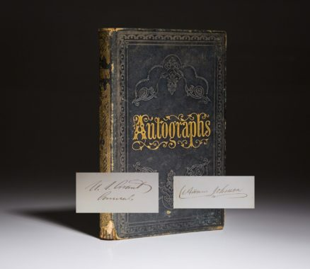 Autograph book, signed by President Andrew Johnson and General US Grant.