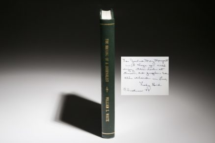 The Making of a journalist by William White, inscribed by Lady Bird Johnson to Jack Valenti.