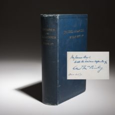 The Speeches and Address of President William McKinley, signed edition.