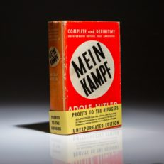 English edition of Mein Kampf by Adolf Hitler.