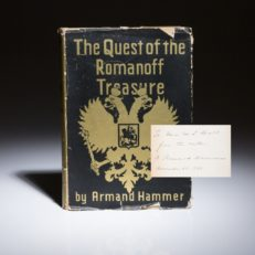 The Quest of the Romanoff Treasure by Armand Hammer.