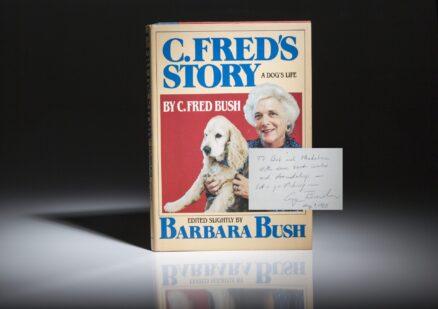 A Dog's Story by Barbara Bush. Signed by George and Barbara Bush.