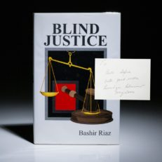 Blind Justice, signed by Benzhair Bhutto.
