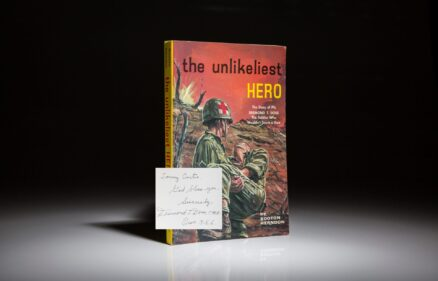 The Unlikeliest Hero by Herndon Booton. Inscribed by Desmond Doss.