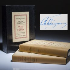 Trial and Error by Chaim Weizmann. Signed limited edition.