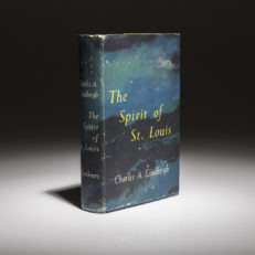 First edition of The Spirit of St Louis by Charles Lindbergh.
