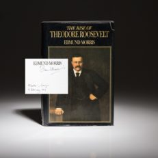 The Rise of Theodore Roosevelt by Edmund Morris. Signed first edition.