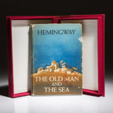 First edition of Old Man and the Sea by Hemingway.