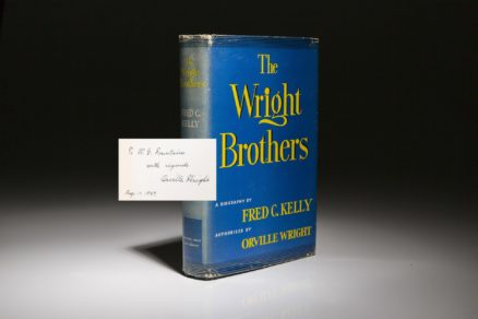 The Wright Brothers by Fred Kelly. Signed first edition, inscribed by Orville Wright.