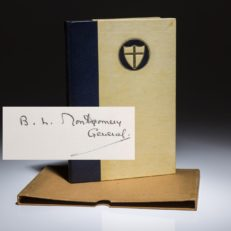 Poems from the Desert by Montgomery of Alamein. Signed limited edition copy.