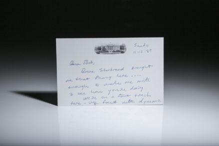 Letter written by President George H.W. Bush.