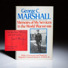 Memoirs of My Services in the World War by George C. Marshall.