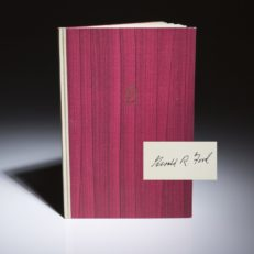 The Churchill Lecture by Gerald Ford. Signed limited edition.