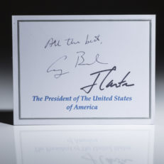 a Nameplate signed by George Bush and Jimmy Carter.
