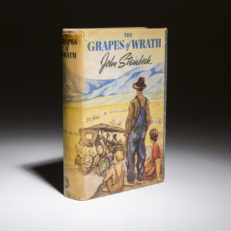 Grapes of Wrath by John Steinbeck. First edition.
