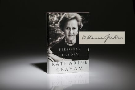 Personal History of Katherine Graham. Signed first edition, first printing.