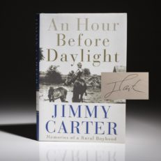 An Hour Before Daylight by Jimmy Carter. Signed first edition, first printing.