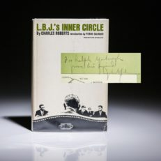 LBJ Inner Circle by Charles Roberts, inscribed by President Lyndon Johnson.