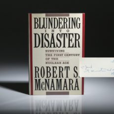 Blundering Into Disaster by Robert McNamara. Signed first edition.