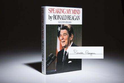 Speaking My Mind by Ronald Reagan. Signed first edition, first printing.