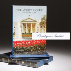 The White House Guide, signed by Rosalynn Carter.