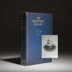 The Seventieth Indiana, limited edition signed by Preident Benjamin Harrison.