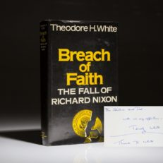 Breach of Faith by Theodore White. Inscribed association copy.