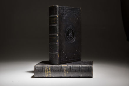Personal Memoirs of US Grant, first edition in black morocco. A fine copy.