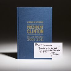 A Decade of Difference by President William Clinton. Limited edition, signed copy. From the Clinton Global Initiative.