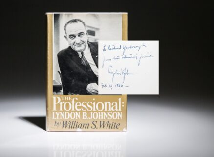 The Professional by William White. Inscribed by President Lyndon Johnson.