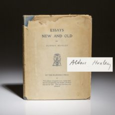 Essays New and Old by Aldous Huxley. Signed limited edition.