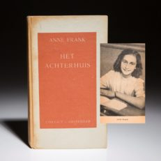 Het Achterhuis by Anne Frank. First edition of Anne Frank's Diary.