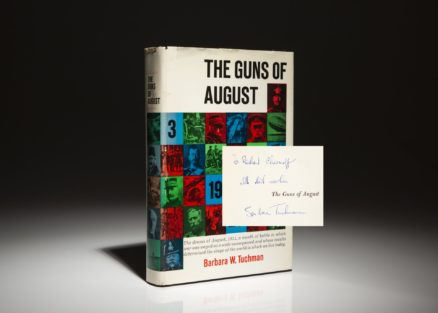 Signed copy of The Guns of August by Barbara Tuchman.