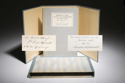 Minutes of the Council of Appointment, Franklin Roosevelt, signed limited edition.