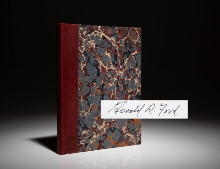 Signed deluxe edition of Humor and The Presidency by Gerald R. Ford.