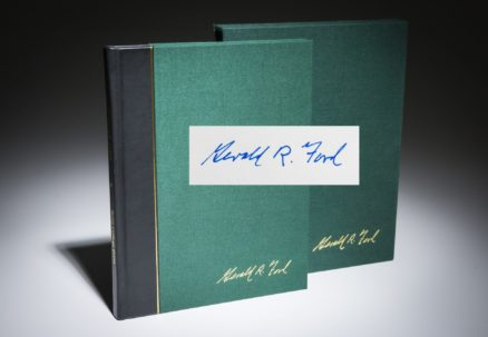 The War Powers Resolution by Gerald R. Ford, signed limited edition.